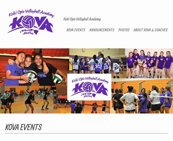 KOVA Hawaii Volleyball Club- New Startup
