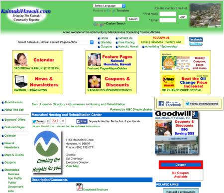 Old Maunalani Directory Page